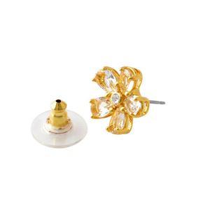 Kate Spade (ケイトスペード) WBRUD471-921 Clear/Gold MIDNIGHT GARDEN drop studs フラワーモチーフ クリスタル スタッド ピアス h02