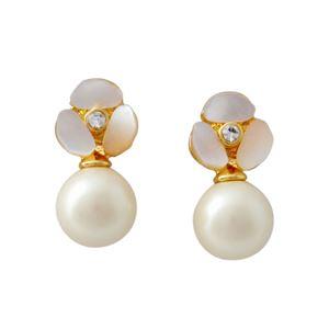 Kate Spade (ケイトスペード) WBRUD515-143 Cream Multi DISCO PANSY pearl drop studs パンジーモチーフ&パール ドロップ スタッド ピアス h01