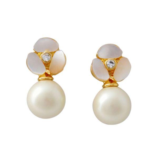 Kate Spade (ケイトスペード) WBRUD515-143 Cream Multi DISCO PANSY pearl drop studs パンジーモチーフ&パール ドロップ スタッド ピアスf00