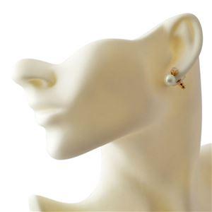 Kate Spade (ケイトスペード) WBRUD515-143 Cream Multi DISCO PANSY pearl drop studs パンジーモチーフ&パール ドロップ スタッド ピアス h03