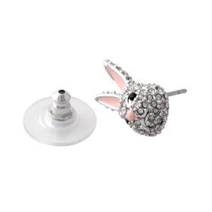 Kate Spade (ケイトスペード) WBRUD589-922 clear/silver MAKE MAGIC rabbit studs ウサギモチーフ クリスタルパヴェ スタッド ピアス h02