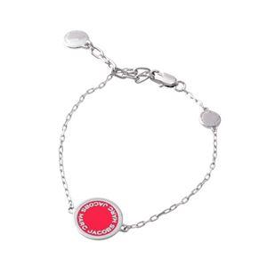 MARC JACOBS (マークジェイコブス) M0008540-650 Pink ロゴ ディスク エナメル ブレスレット Logo Disc Enamel Bracelet
