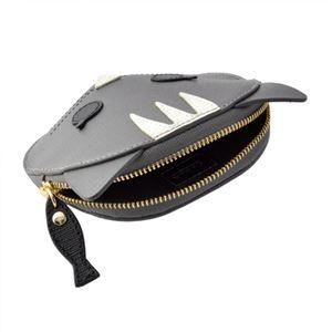 FURLA (フルラ) 856554 PO52 SFM COLOR ACCIAIO 魚チャーム付 猫モチーフ コインケース 小銭入れ ALLEGRA COIN CASE CAT h03
