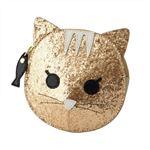 FURLA (フルラ) 856564 PR95 S30 COLOR GOLD 魚チャーム付 猫モチーフ コインケース 小銭入れ ALLEGRA COIN CASE CAT