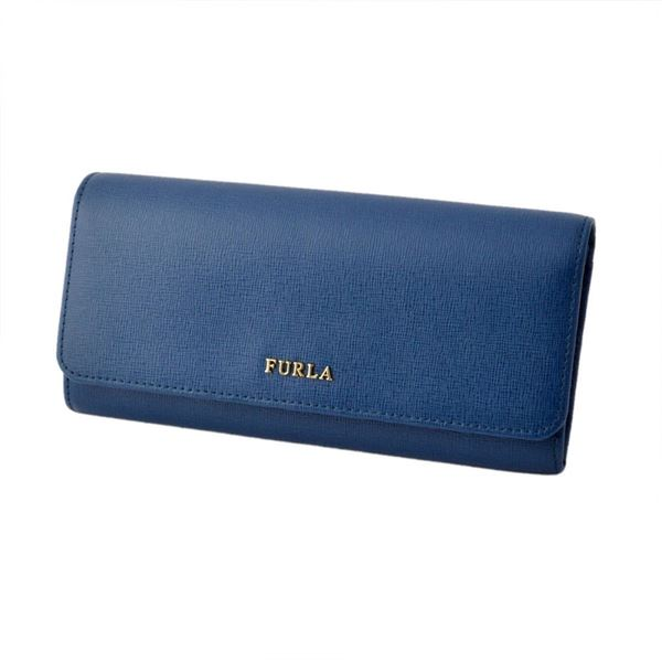 FURLA (フルラ) 856529 PN84 B30 BLU GINEPRO 二つ折り長財布 フラップ ウォレット BABYLON XLf00