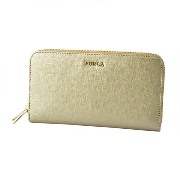 FURLA (フルラ) 851537 PR70 SFM COLOR GOLD バビロン ラウンドファスナー 長財布 BABYLON XL ZIP AROUNDf00