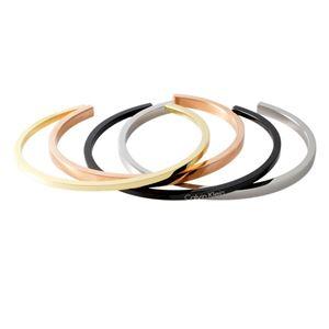 Calvin Klein (カルバンクライン) KJ7GBF40010M 4連 カフ バングル ブレスレット 4本セット Mサイズ OPEN GORG