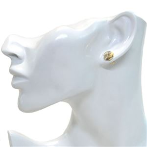 MARC JACOBS (マークジェイコブス) M0009789-168 Crystal/Gold MJ Coin Studs コイン クリスタル スタッド ピアス