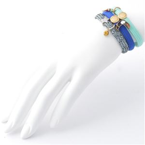 MARC JACOBS (マークジェイコブス) M0010701-401 Blue Multi Parrot Cluster Ponys クラスターポニー オウムチャーム ヘアゴム3本セット ブレスレットにも