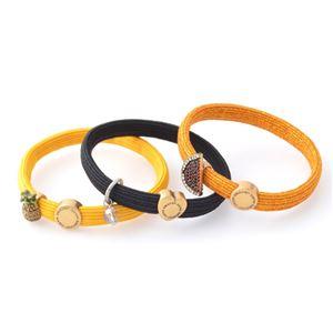MARC JACOBS (マークジェイコブス) M0010702-750 Yellow Multi Tropical Cluster Ponys クラスターポニー トロピカルチャーム ヘアゴム3本セット ブレスレットにも