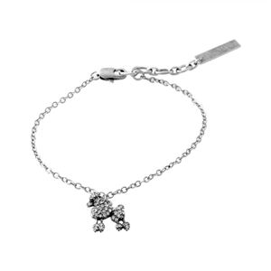 MARC JACOBS (マークジェイコブス) M0010729-969 Crystal/Antique Silver プードル パヴェ ブレスレット Mini Poodle Chain Bracelet