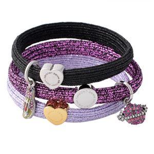MARC JACOBS (マークジェイコブス) M0011859-501 Purple Multi クラスターポニー ヘアゴム3本セット ブレスレットにも  Space Pony