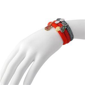 MARC JACOBS (マークジェイコブス) M0011860-601 Red Multi クラスターポニー ヘアゴム3本セット ブレスレットにも  Mushroom Pony