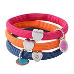MARC JACOBS (マークジェイコブス) M0011863-651 Pink Multi クラスターポニー ヘアゴム3本セット ブレスレットにも  Logo Disc Pony