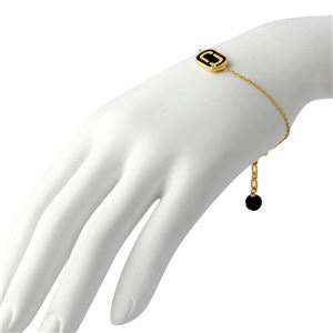 MARC JACOBS (マークジェイコブス) M0012393-065 Black/Gold 「J」ロゴモチーフ ブレスレット Icon Enamel Bracelet