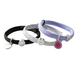 MARC JACOBS (マークジェイコブス) M0011863-501 Purple Multi クラスターポニー ヘアゴム3本セット ブレスレットにも  Logo Disc Pony
