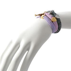 MARC JACOBS (マークジェイコブス) M0012436-546 Metalic Lilac Multi クラスターポニー ヘアゴム3本セット ブレスレットにも  Swirl Candy Pony