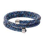 SWAROVSKI (スワロフスキー) 5255903 Crystaldust Double Blue クリスタルロック スパイラル バングル ブレスレット Sサイズ
