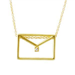 ALIITA (アリータ) CARITA NECKLACE NECKLACE 9KYG×HWダイヤモンド カリタ レター 封筒モチーフ ネックレス ペンダント