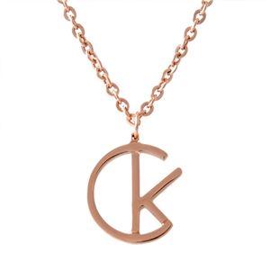 Calvin Klein (カルバンクライン) KJ6DMP000100 CKロゴ ネックレス ペンダント LEAGUE