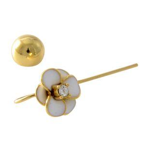 kate Spade (ケイトスペード) WBRUE241-100 White フラワーモチーフ ハンガー ピアス Shine On Flower Hanger Earrings