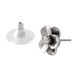 kate Spade (ケイトスペード) WBRUE451-040 Silver フラワーモチーフ スタッド ピアス Shine On Flower Studs