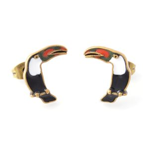 MARC JACOBS (マークジェイコブス) M0010471-002 Black Multi Charms Paradise Parrot Studs オウムモチーフ スタッド ピアス 鳥バード