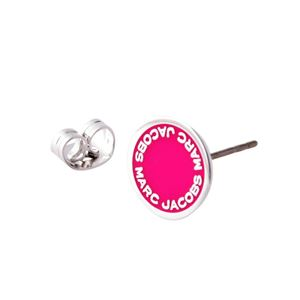 MARC JACOBS (マークジェイコブス) M0008544-655 Raspberry ロゴ ディスク エナメル スタッド ピアス Logo Disc Enamel Studs