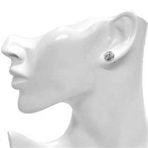 MARC JACOBS (マークジェイコブス) M0009789-169 Crystal/Silver コイン クリスタル スタッド ピアス MJ Coin Studs