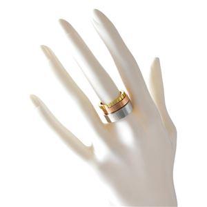 Calvin Klein (カルバンクライン) KJ5MDR300106 トリコロール 3連 リング 指輪 3本セット 6号 (日本サイズ11号相当) WONDER TRICO