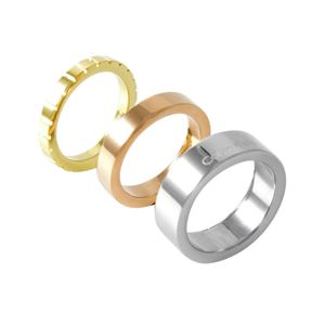Calvin Klein (カルバンクライン) KJ5MDR300107 トリコロール 3連 リング 指輪 3本セット 7号 (日本サイズ13号相当) WONDER TRICO