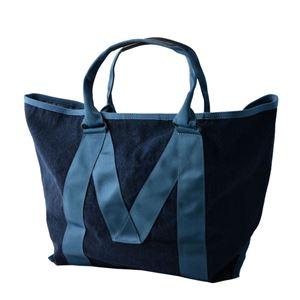 MARC JACOBS (マークジェイコブス) M0011123-423 Denim ミリタリーロゴプリント トートバッグ A4サイズ対応 New Logo Tote