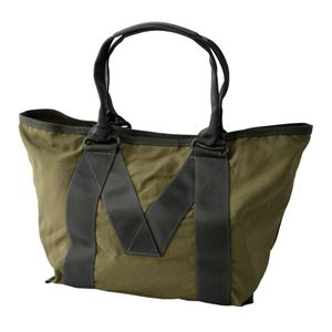 MARC JACOBS (マークジェイコブス) M0011222-313 Army Green ミリタリーロゴプリント トートバッグ スモール A4サイズ対応 New Logo Small Tote