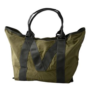 MARC JACOBS (マークジェイコブス) M0011223-313 Army Green ミリタリーロゴプリント トートバッグ A4サイズ対応 New Logo Tote
