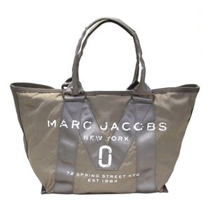 MARC JACOBS (マークジェイコブス) M0011222-063 French Grey ミリタリーロゴプリント トートバッグ スモール A4サイズ対応 New Logo Small Tote
