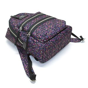 MARC JACOBS (マークジェイコブス) M0012635-401 Blue Multi ダブルJロゴ ミックスベリープリント ナイロン バックパック リュックサック Mixed Berries Print Nylon Biker Backpack