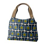 Orla Kiely (オーラカイリー) 17SELBR024 Navy ショルダーバッグ LOVE BIRDS PRINT Classic Zip Shoulder Bag