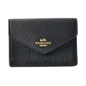 COACH (コーチ) 55749 Li/Black(LIBLK) エンベロープ カードケース 小銭入れ・キーリング付 マルチケース ENVELOPE CARD CASE