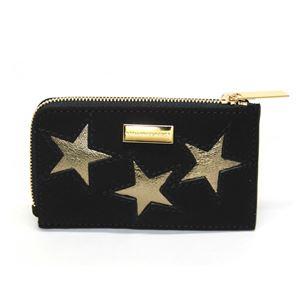 STELLA McCARTNEY (ステラマッカートニー) 489033 W8140 1000 スター 星型パッチワーク L字ジップ カードケース 名刺入れ Card Holder Gold Stars