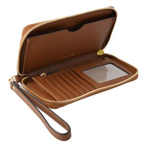 MICHAEL KORS (マイケルコース) 32H4GTVE9L Luggage モバイル・スマホケース付 ラウンドファスナー長財布 JET SET TRAVEL