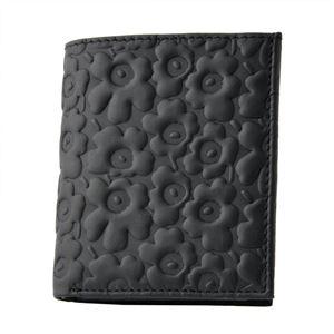 marimekko (マリメッコ) 43650 999 エンボス ウニッコ型押しレザー 二つ折り財布 EMBOSSED-UNIKKO KATRI