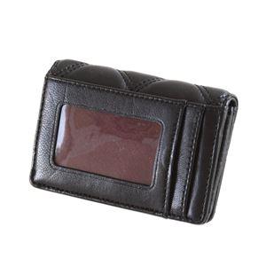 MARC JACOBS (マークジェイコブス) M0012090-001 Black ダブルJロゴ キルティングステッチ キーリング付 マルチケース 小銭・定期・カード入れ Double J Matelasse Multi Wallet