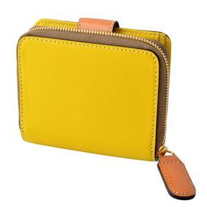 Orla Kiely (オーラカイリー) 17SBGFL121 Lemon ラウンドファスナー小銭入れ付二つ折り財布 GIANT FROWER Square Zip Wallet