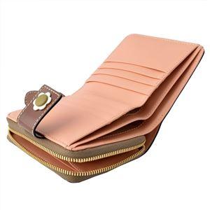 Orla Kiely (オーラカイリー) 17SBGFL121 Marshmallow ラウンドファスナー小銭入れ付二つ折り財布 GIANT FROWER Square Zip Wallet