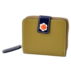 Orla Kiely (オーラカイリー) 17SBGFL121 Moss ラウンドファスナー小銭入れ付二つ折り財布 GIANT FROWER Square Zip Wallet