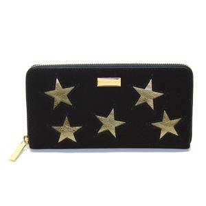 STELLA McCARTNEY (ステラマッカートニー) 431020 W8140 1000 スター 星型パッチワーク ラウンドファスナー長財布 Wallet Gold Stars