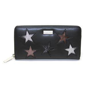STELLA McCARTNEY (ステラマッカートニー) 431020 W8141 1000 スター 星型パッチワーク ラウンドファスナー長財布 Wallet Eco Alter Nappa Multicolor Stars