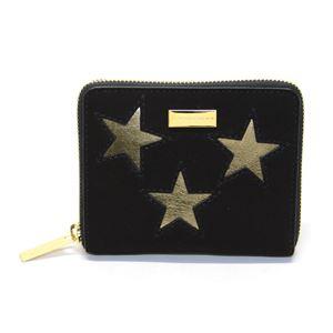 STELLA McCARTNEY (ステラマッカートニー) 431021 W8140 1000 スター 星型パッチワーク ジップ 二つ折り財布 Wallet Gold Stars