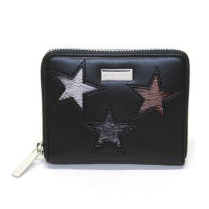 STELLA McCARTNEY (ステラマッカートニー) 431021 W8141 1000 スター 星型パッチワーク ジップ 二つ折り財布 Wallet Eco Alter Nappa Multicolor Stars