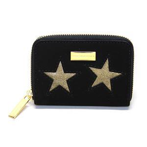 STELLA McCARTNEY (ステラマッカートニー) 431022 W8140 1000 スター 星型パッチワーク ジップ コインケース 小銭入れ Coin Purse Gold Stars